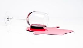 Vino rojo derramado Foto de archivo