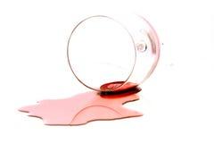 Vino rojo derramado Imagen de archivo libre de regalías