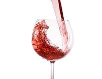 Vino rojo en vidrio Imagen de archivo