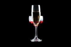 Vino rojo y champán Fotos de archivo