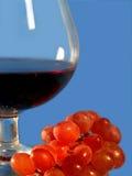 Vino rojo y uva Fotografía de archivo