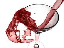 Vino rojo y vidrio de vino Fotografía de archivo libre de regalías