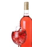 Vino rosado En el hielo imagen de archivo libre de regalías