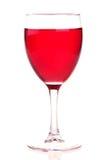Vino rosado En un vidrio de vino Foto de archivo