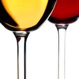 Vino rosso bianco e Immagine Stock