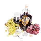 Vino rosso bianco e Immagini Stock