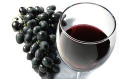 Vino rosso con l'uva Immagine Stock Libera da Diritti