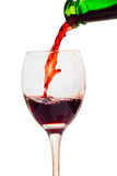 Vino rosso del bicchiere di vino fotografia stock libera da diritti