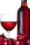 Vino rosso di natale Immagini Stock