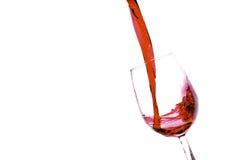 Vino rosso di versamento Fotografie Stock