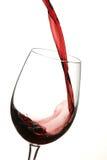 Vino rosso di vetro Fotografie Stock