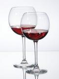 Vino rosso di vetro Fotografia Stock Libera da Diritti