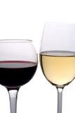 Vino rosso e bianco Fotografie Stock Libere da Diritti