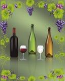 Vino rosso e bianco Fotografie Stock