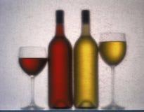 Vino rosso e bianco Fotografia Stock Libera da Diritti