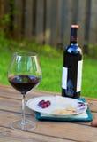 Vino rosso e formaggio Fotografia Stock