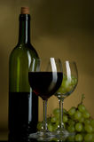 Vino rosso ed uva fotografia stock