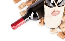 Vino rosso isolato su bianco Immagini Stock Libere da Diritti