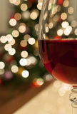 Vino rosso per natale Fotografia Stock Libera da Diritti