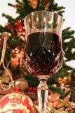 Vino rosso per natale fotografia stock