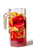 Vino rosso raffreddato con la frutta Fotografia Stock Libera da Diritti