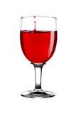 Vino rosso in vetro Fotografie Stock Libere da Diritti