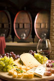 Vino rosso in vetro fine Fotografia Stock Libera da Diritti