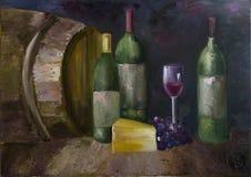Vino-sótano stock de ilustración