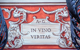 In vino veritas Photo stock