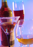 In vino veritas. still-life with glasses Stock Photo
