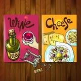 Vino y queso ilustración del vector