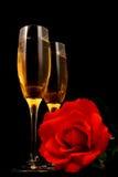 Vino y romance Imagen de archivo libre de regalías
