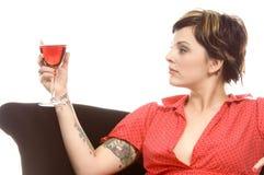 Vino y tatuajes Fotografía de archivo libre de regalías