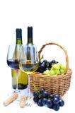 Vino y uvas Imagenes de archivo