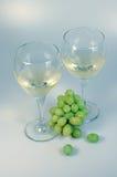 Vino y uvas Foto de archivo
