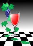 Vino y uvas del otoño stock de ilustración