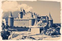 Vino y uvas Suiza Foto de archivo libre de regalías