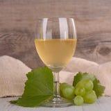 Vino y uvas verdes Imagen de archivo libre de regalías