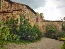 Vinodling i Rignana, Italien arkivfoton