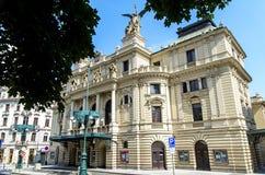 Vinohrady teater i Prague Arkivbilder