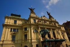 Vinohrady Theatre (Czech: Divadlo na Vinohradech) is a theatre in Vinohrady, Prague Stock Photo