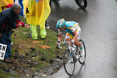 Vinokourov - Mortirolo Royalty Free Stock Images
