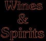 Vinos y bebidas espirituosas Imágenes de archivo libres de regalías