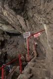 Vinoteca Golitsyn grotto Chaliapin in mountain Koba-Kaya Royalty Free Stock Photos