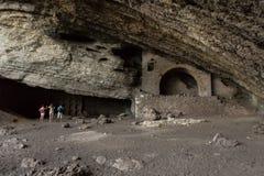 Vinoteca Golitsyn grotto Chaliapin in mountain Koba-Kaya Stock Images