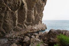 Vinoteca Golitsyn grotto Chaliapin in mountain Koba-Kaya Royalty Free Stock Image