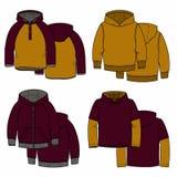 Vinous και μουστάρδα hoodies Στοκ εικόνες με δικαίωμα ελεύθερης χρήσης