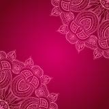 Vinous предпосылка с орнаментом шнурка Стоковые Фото