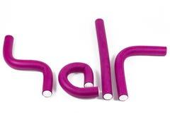 Vinous hårrullear Royaltyfri Fotografi