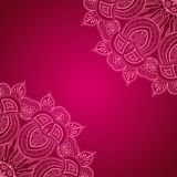 Vinous background with lace ornament Stock Photos